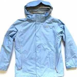 The North Face Waterproof Jacket Girls Large Blue